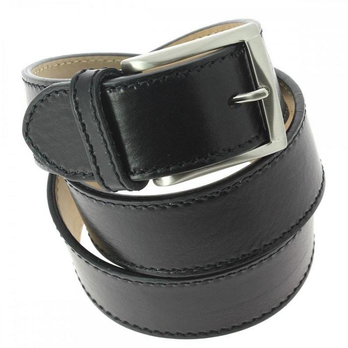 Ceinture cuir, pour jeans, bords épais, noir noir Robert Charles | La Redoute