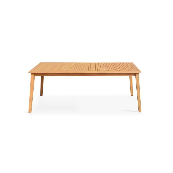 Table de jardin en bois extensible 200-250cm