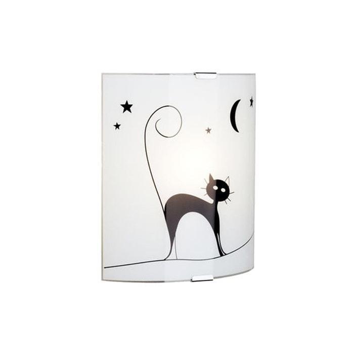 applique murale cat 1x60w e27 blanc noir brilliant 05910 75 multicolore brilliant la redoute. Black Bedroom Furniture Sets. Home Design Ideas