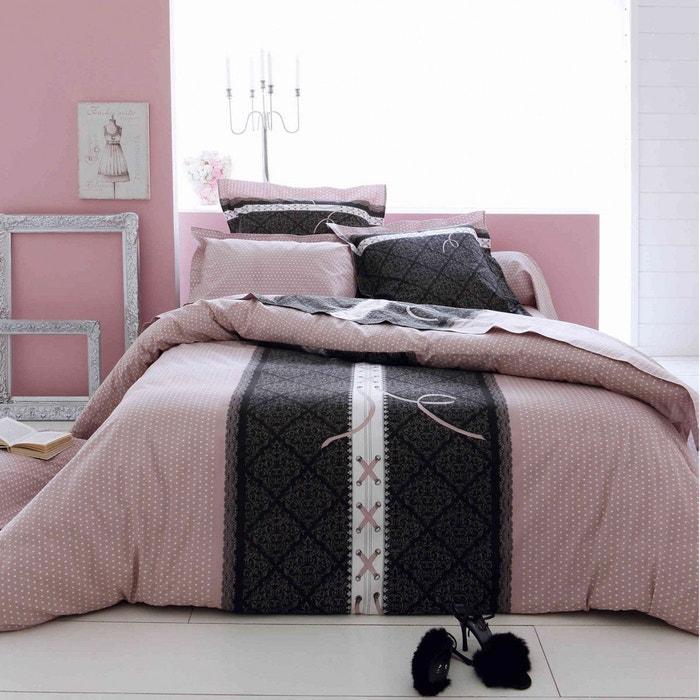 parure de lit glamour tradilinge rose tradilinge la redoute. Black Bedroom Furniture Sets. Home Design Ideas