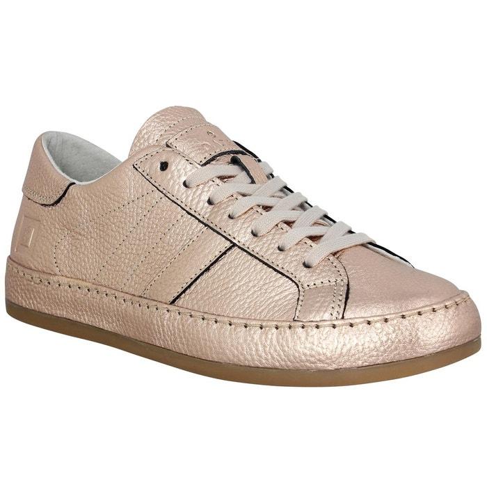 Baskets femme d.a.t.e cover cuir femme or or D.A.T.E