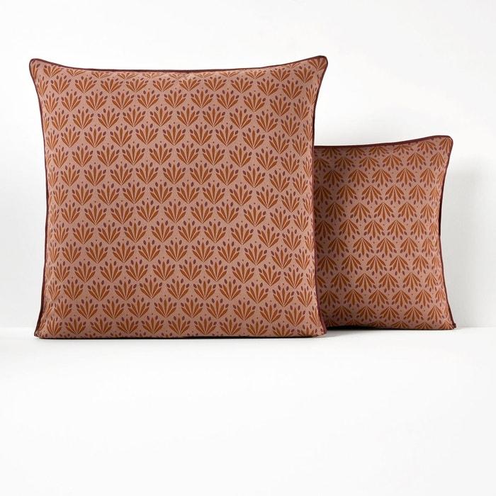 taie d oreiller pur coton ventail imprim la redoute. Black Bedroom Furniture Sets. Home Design Ideas