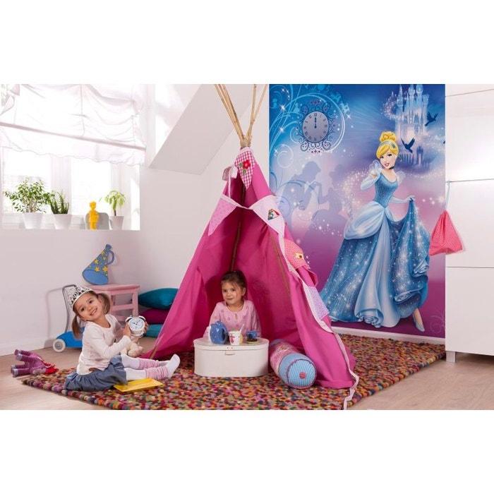 papier peint cendrillon tincelante princesse disney 184x254 cm bleu rose disney princess la. Black Bedroom Furniture Sets. Home Design Ideas