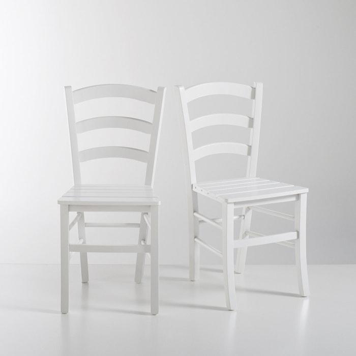 Set of 2 PERRINE Slatted Chairs