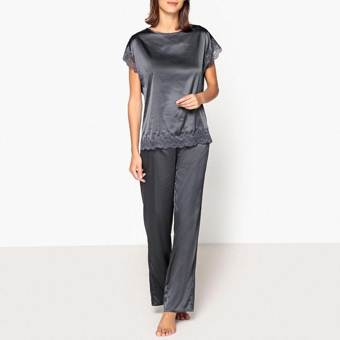 Pyjama satin détail dentelle  LA REDOUTE COLLECTIONS image 0