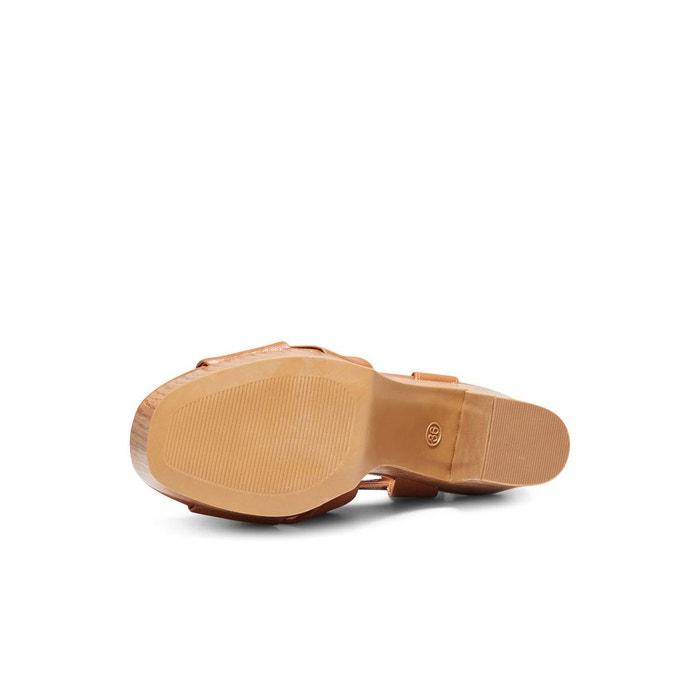 Sandales talons cognac Only