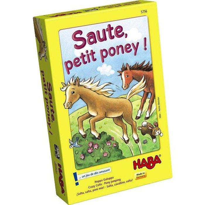 Saute petit poney couleur unique haba la redoute - Jeux de poney qui saute ...