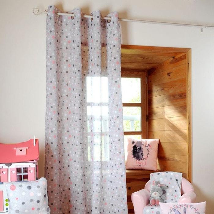 voilage imprim pois gris home maison la redoute. Black Bedroom Furniture Sets. Home Design Ideas