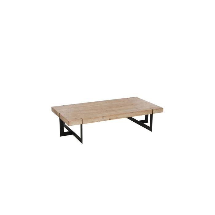 table basse rectangulaire moderne boismetal noir hellin depuis 1862 image 0