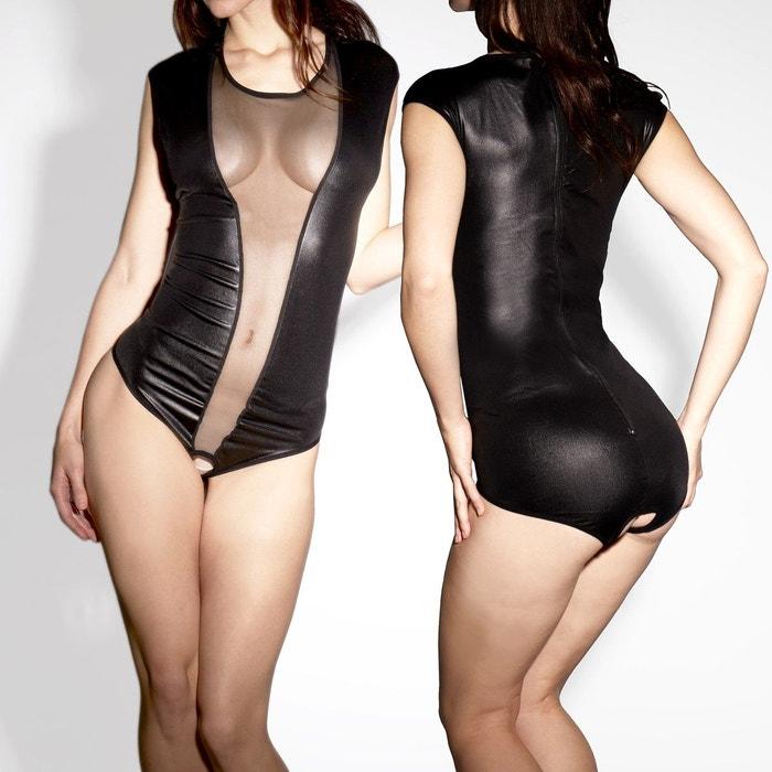 Body Sexy Vinyl Avec Ouverture Zip  COLLANTS LAUVE image 0