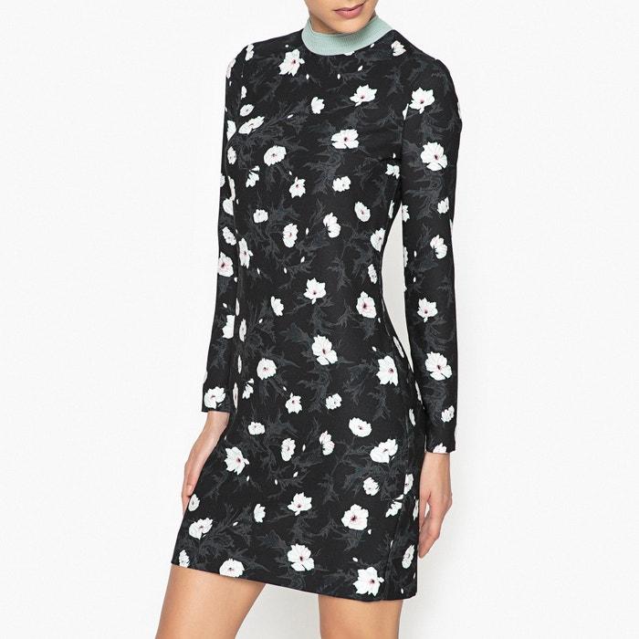 afbeelding Bedrukte jurk met opstaande kraag CARVEN