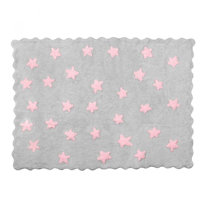 tapis enfant coton gris toiles roses gris lilipouce la. Black Bedroom Furniture Sets. Home Design Ideas