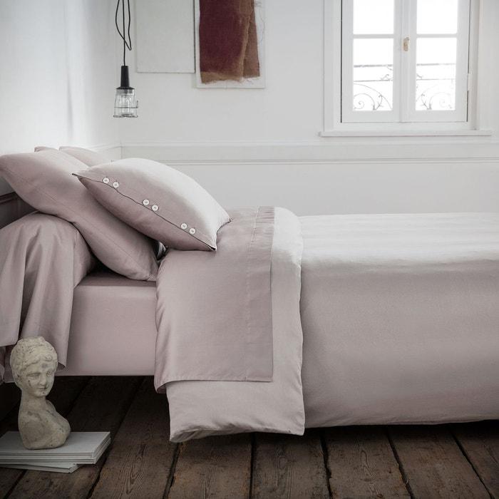 Housse de couette satin de coton tissage uni la redoute for La redoute housse de couette bicolore