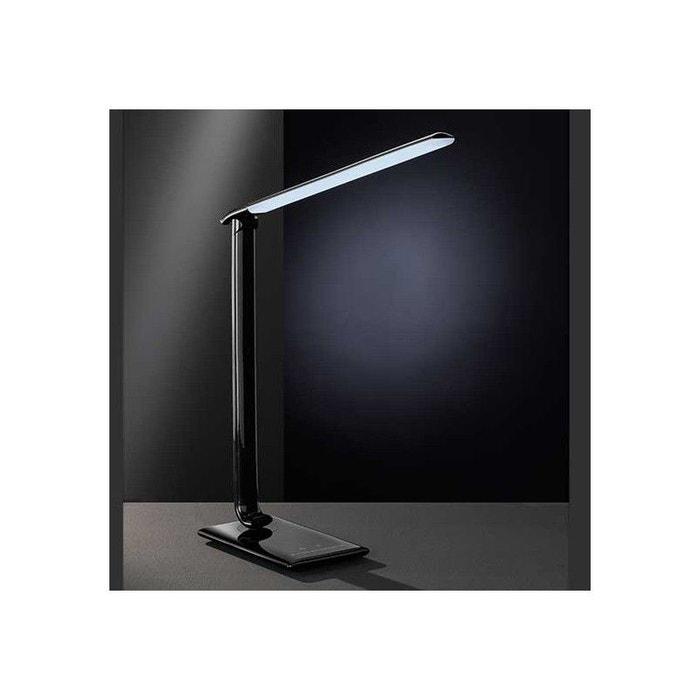 Lampe de bureau led high tech noire port usb noir for Bureau high tech