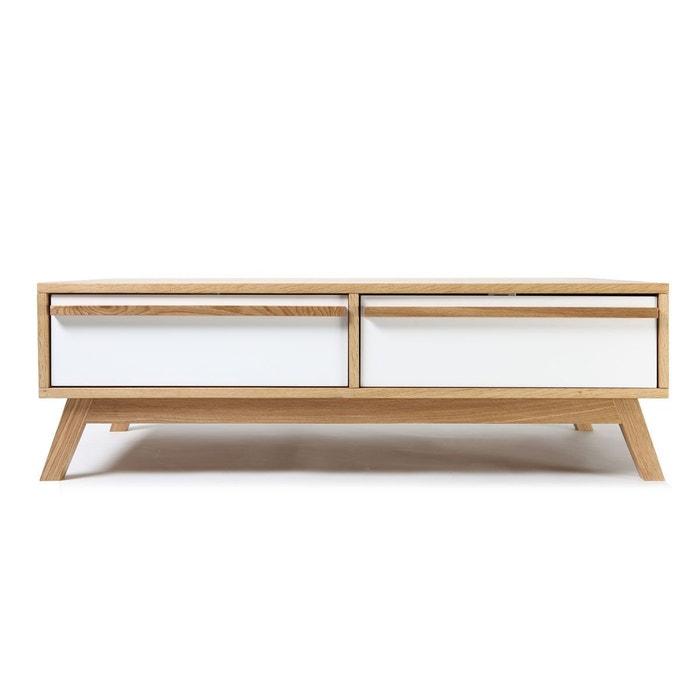 Table basse design scandinave helia blanc miliboo la redoute - La redoute table basse scandinave ...