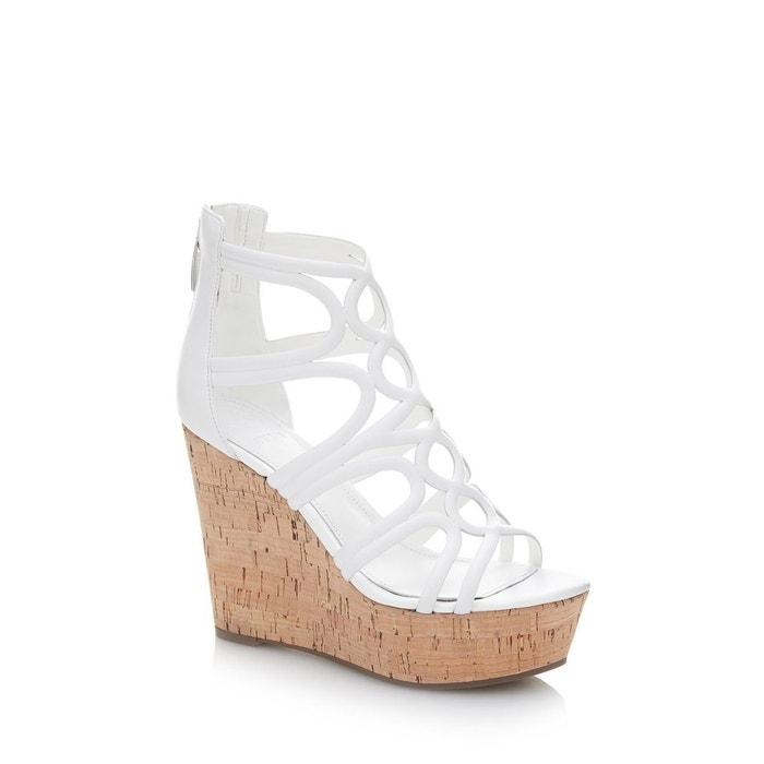 Chaussures à semelle compensée geddy  blanc Guess  La Redoute