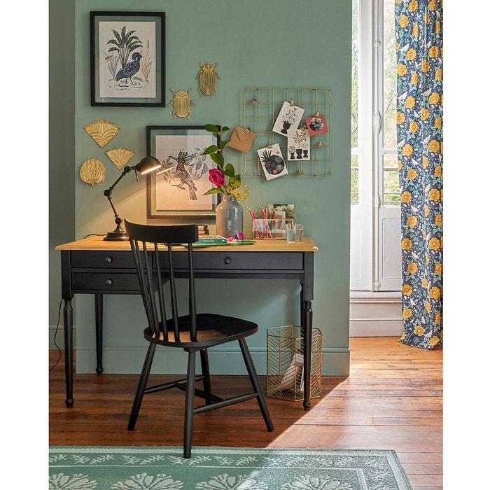 Bureau Pin Massif Authentic Style Noir Bois La Redoute Interieurs La Redoute