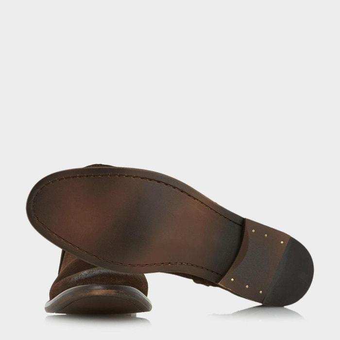 Double zip boot - collie marron foncé daim Bertie