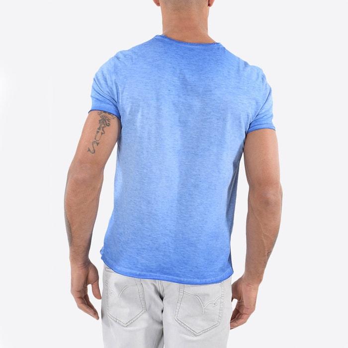 Camiseta corta de cuello 5 lisa de con manga KAPORAL pico x5wd0Ix