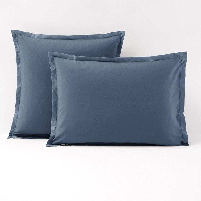 taie d 39 oreiller unie percale de coton qualit best bleuet. Black Bedroom Furniture Sets. Home Design Ideas