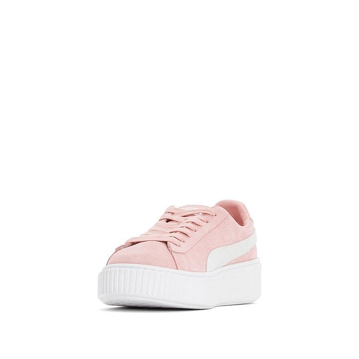 ead7c95b7 Zapatillas de piel suede platform rosa Puma