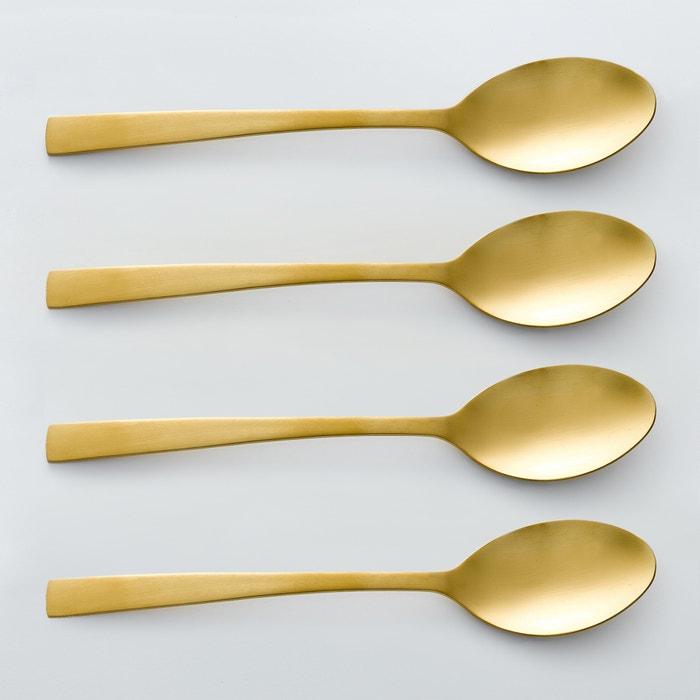 Confezione da 4 cucchiai finitura dorata, AUBERIE  La Redoute Interieurs image 0