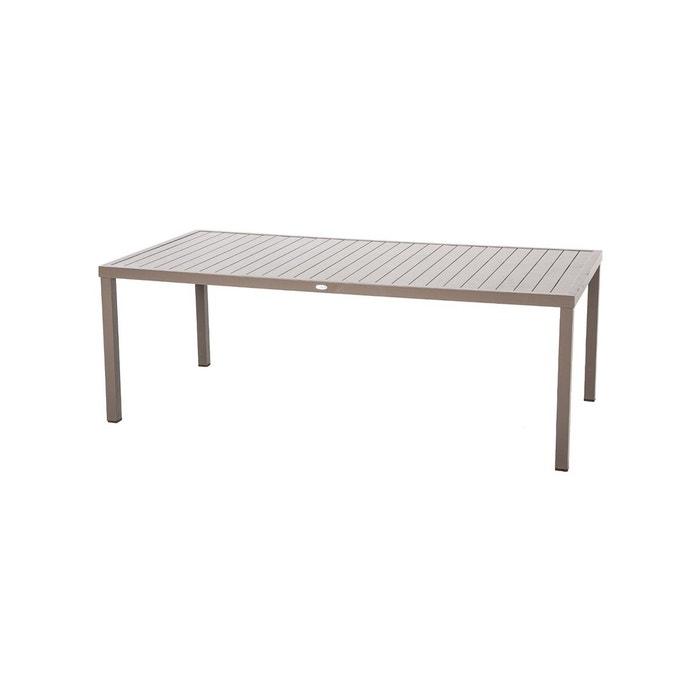Table de jardin rectangulaire piazza aluminium 8 places Hesperide ...