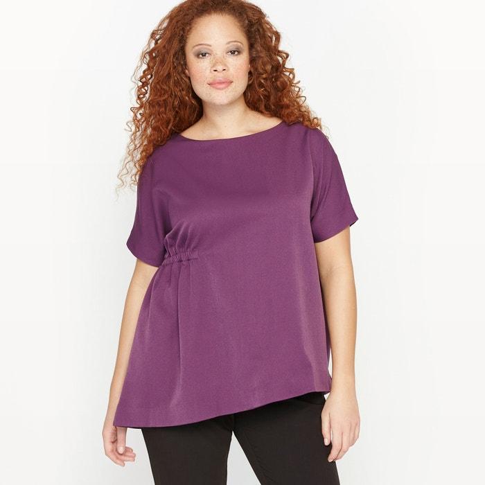 afbeelding Asymmetrische blouse met korte mouwen CASTALUNA