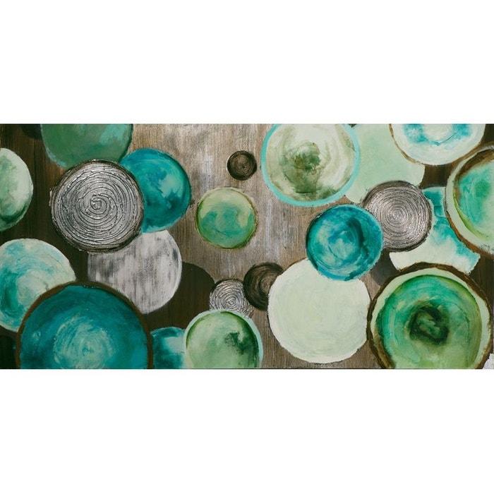 tableau moderne 70x140 cercles abstraits vert bleu blanc pier import la redoute. Black Bedroom Furniture Sets. Home Design Ideas