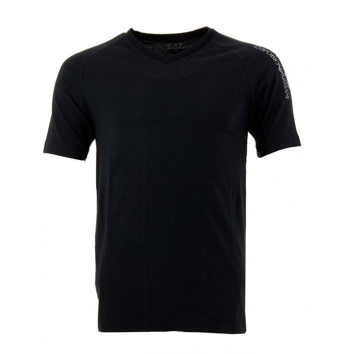 Tee-shirt (noir) coton noir Emporio Armani Ea7   La Redoute 3352fc0ed112