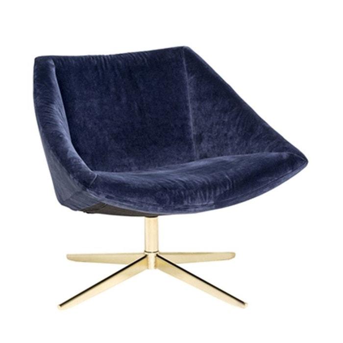 Fauteuil velours bleu et pieds or Elegant Bloomingville BLOOMINGVILLE