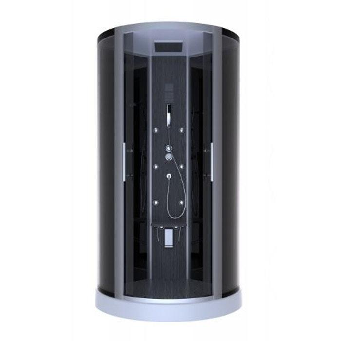 cabine de douche 39 dark night hammam 39 gris home bain la redoute. Black Bedroom Furniture Sets. Home Design Ideas