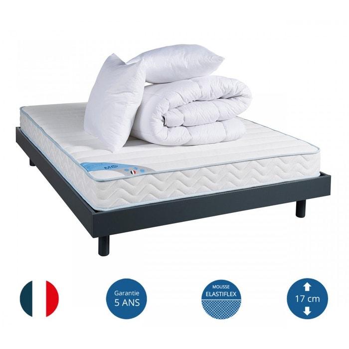 pack ensemble mousse m10 t sommier kit anthracite. Black Bedroom Furniture Sets. Home Design Ideas