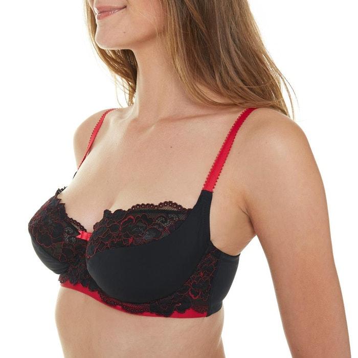 soutien gorge emboitant bonnets c d et e noir rouge. Black Bedroom Furniture Sets. Home Design Ideas