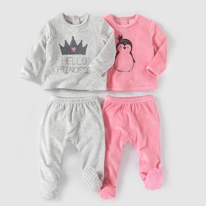 Image Pyjama 2 pièces velours (lot de 2) 0 mois-3 ans R mini