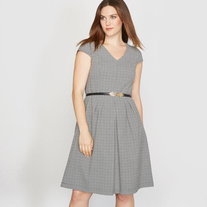 Image Żakardowa sukienka z krótkim rękawem CASTALUNA