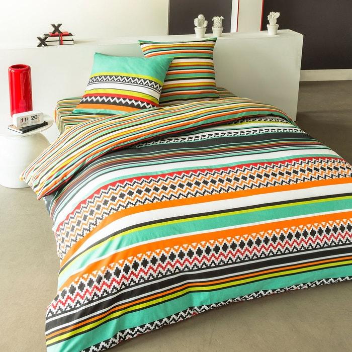 parure de lit mexico en coton multicolore multicolore cotonflor la redoute. Black Bedroom Furniture Sets. Home Design Ideas
