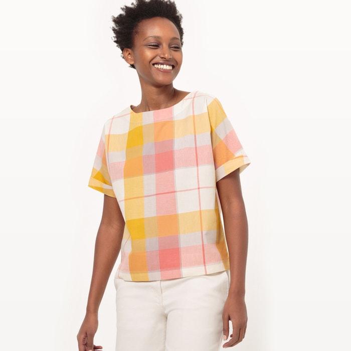 afbeelding Geruite blouse met korte mouwen La Redoute Collections