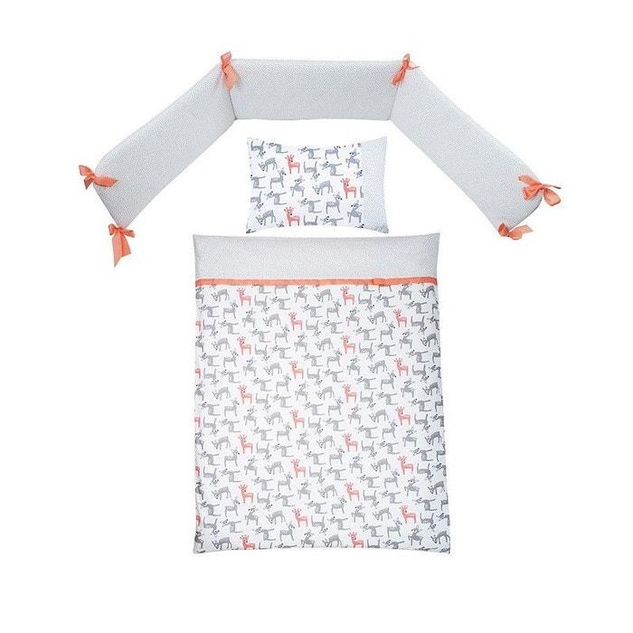 parure de lit b b avec tour de lit little fawn 3. Black Bedroom Furniture Sets. Home Design Ideas