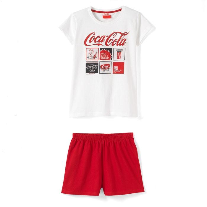 afbeelding Bedrukte pyjashort COCA COLA