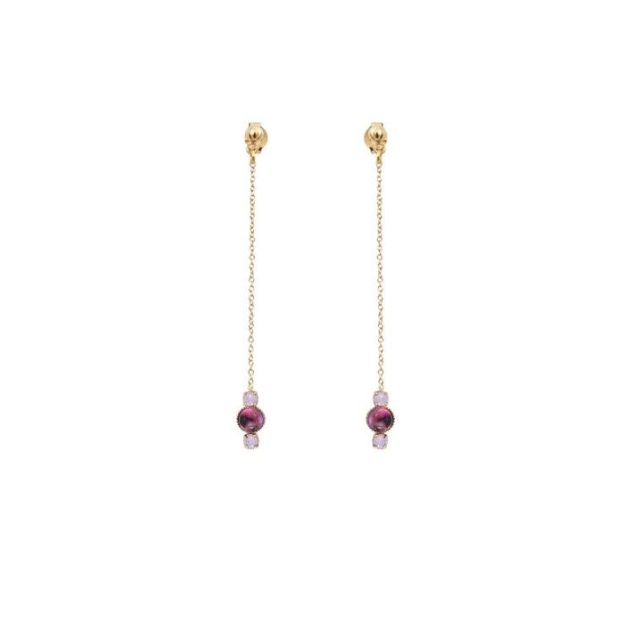 Boucles d'oreilles dorées top améthyste sunrise violet Caroline Najman   La Redoute Livraison Gratuite Explorer wMRS2rIGf