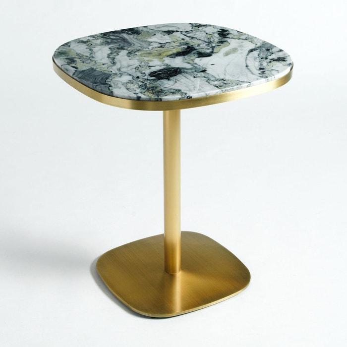 Table De Bistrot Marbre 60 Cm Lixfeld Laiton Vieilli Am