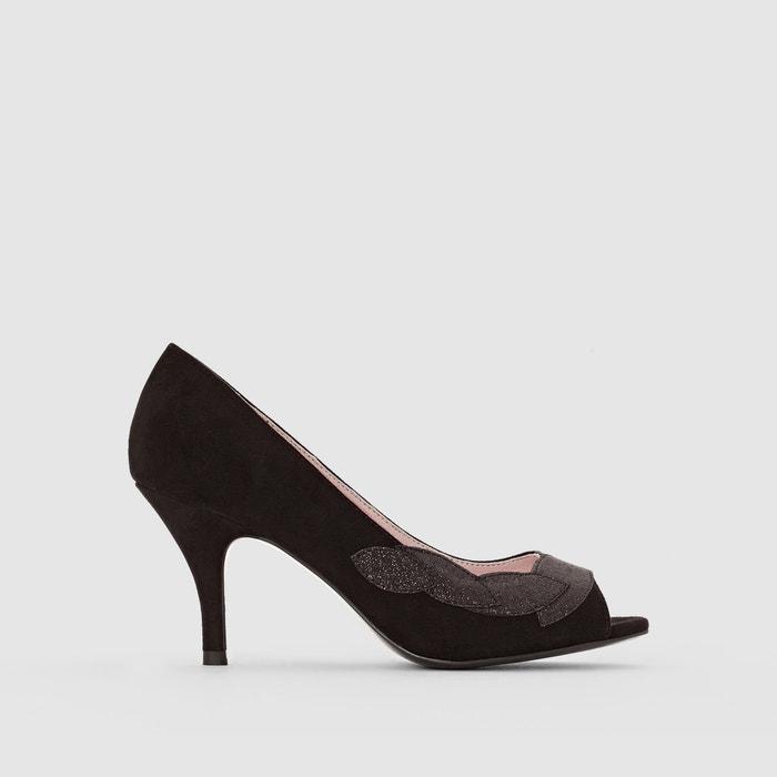 Sapatos com biqueira aberta, detalhes com purpurinas MADEMOISELLE R