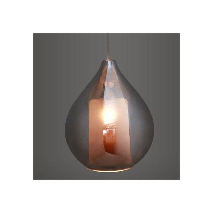 lustre suspension circ smoky transparent millumine la redoute. Black Bedroom Furniture Sets. Home Design Ideas