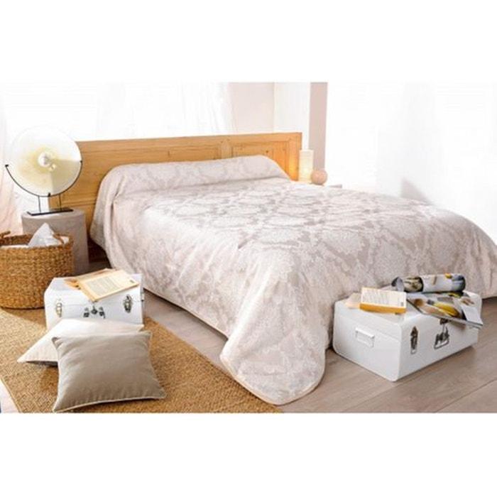 jet de lit san marco brod ivoire et blanc beige home maison la redoute. Black Bedroom Furniture Sets. Home Design Ideas