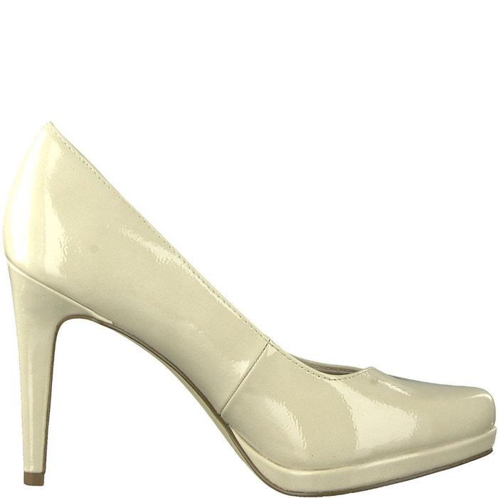 Escarpins vernis talon aiguille joie beige Tamaris   La Redoute 34ef740f885a