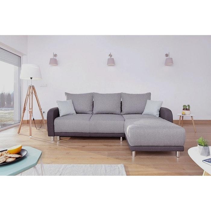 minty r versible canap d 39 angle bobochic bicolore gris clair gris anthracite gris concept. Black Bedroom Furniture Sets. Home Design Ideas