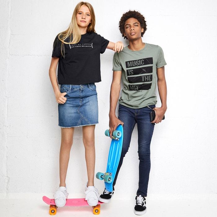 Jupe droite en jean 10-16 ans  La Redoute Collections image 0