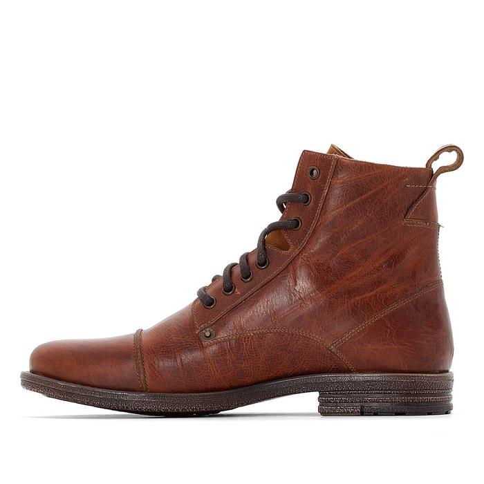 Boots cuir emerson marron Levis