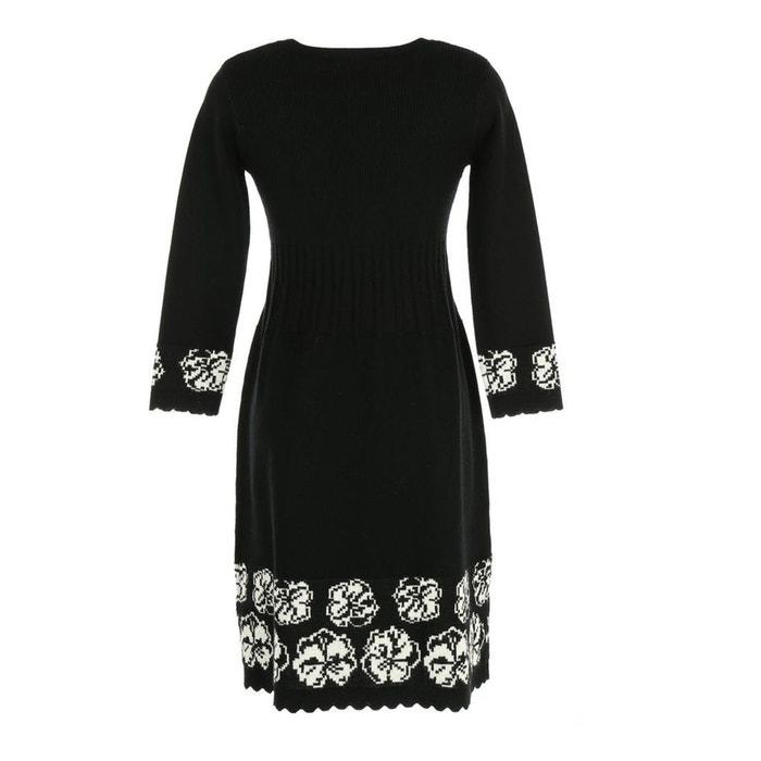 DERHY Vestido con RENE estampado de patinadora flores semilargo qOg5n4xwd5